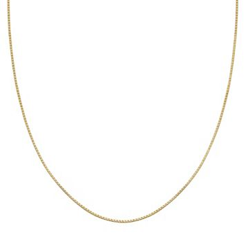 PRIMROSE 14k Gold Over Silver Box Chain Necklace - 20 in.
