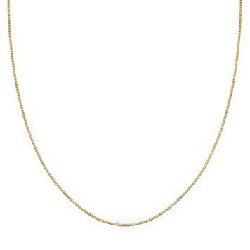 PRIMROSE 14k Gold Over Silver Box Chain Necklace - 20 in.