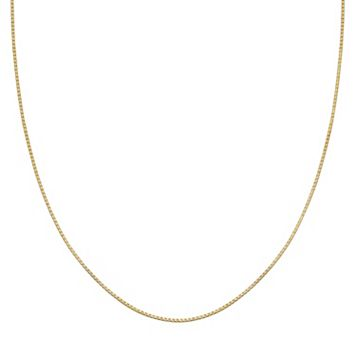 PRIMROSE 14k Gold Over Silver Box Chain Necklace - 24 in.