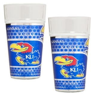 Kansas Jayhawks 2-Piece Pint Glass Set