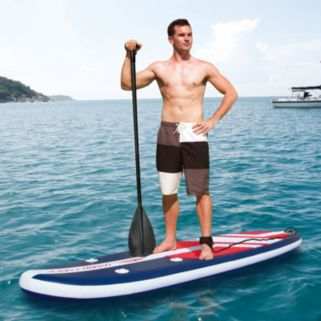 Bestway HydroForce 11-foot Long Tail Inflatable 2-in-1 Stand-Up Paddle Board & Kayak