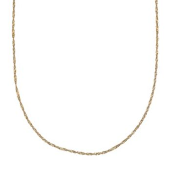 PRIMROSE 14k Gold Over Silver Singapore Chain Necklace - 20 in.