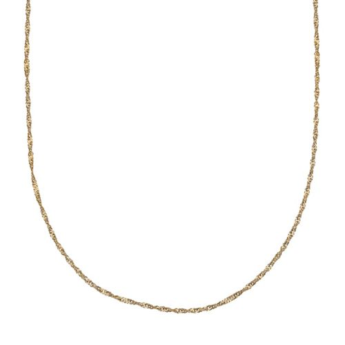 14k Gold Over Silver Singapore Chain Necklace - 20 in.