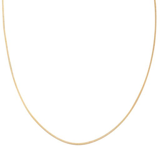 PRIMROSE 14k Gold Over Silver Square Snake Chain Necklace - 18 in.