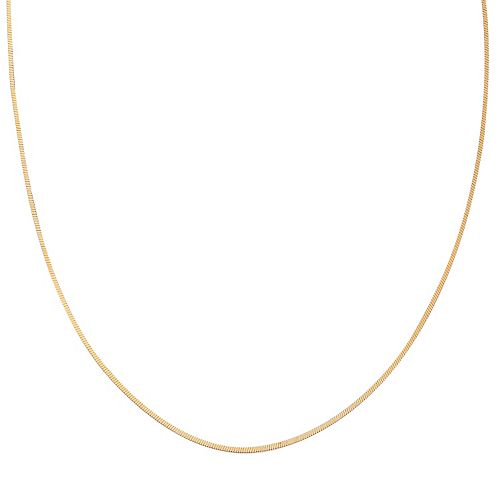 PRIMROSE 14k Gold Over Silver Square Snake Chain Necklace - 20 in.