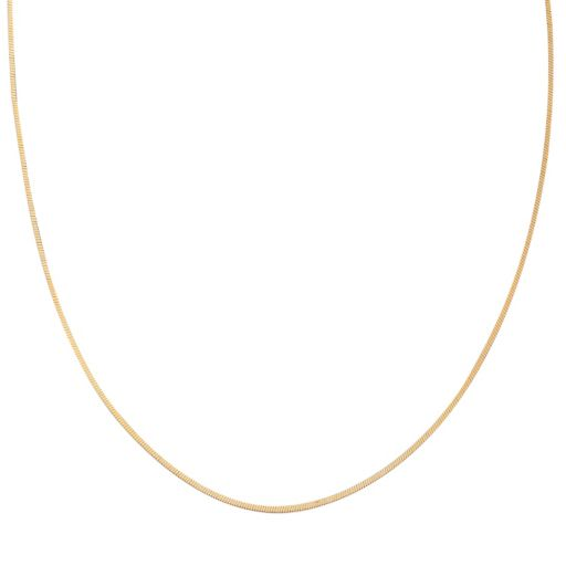 PRIMROSE 14k Gold Over Silver Square Snake Chain Necklace - 24 in.