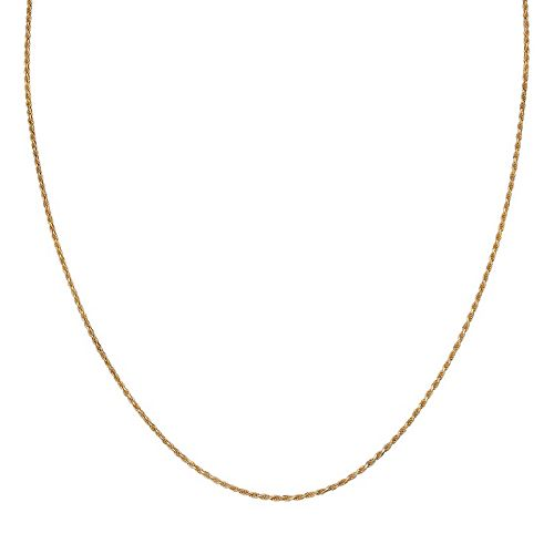 PRIMROSE 14k Gold Over Silver Rope Chain Necklace - 18 in.
