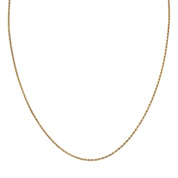 PRIMROSE 14k Gold Over Silver Rope Chain Necklace - 20 in.