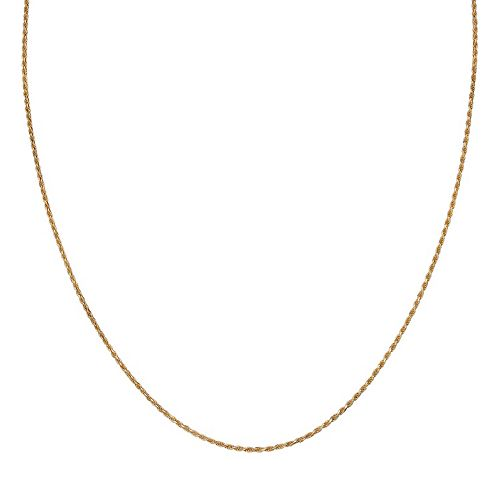 PRIMROSE 14k Gold Over Silver Rope Chain Necklace - 24 in.