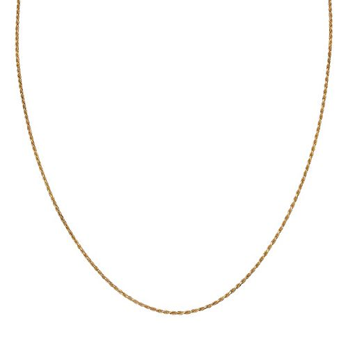 PRIMROSE 14k Gold Over Silver Rope Chain Necklace - 30 in.