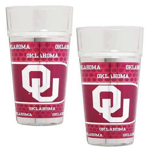 Oklahoma Sooners 2-Piece Pint Glass Set