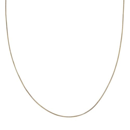 14k Gold Over Silver Snake Chain Necklace - 20 in.