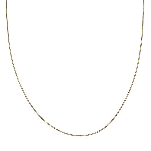 PRIMROSE 14k Gold Over Silver Snake Chain Necklace - 20 in.