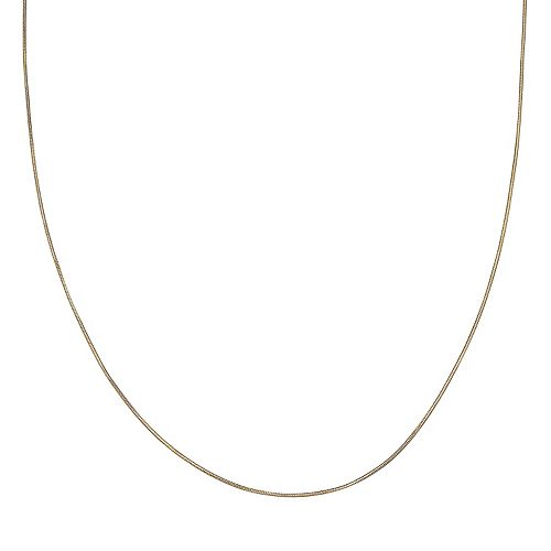 PRIMROSE 14k Gold Over Silver Snake Chain Necklace - 24 in.