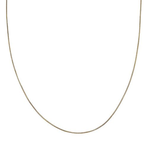 PRIMROSE 14k Gold Over Silver Snake Chain Necklace - 30 in.