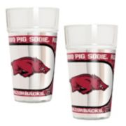 Arkansas Razorbacks 2-Piece Pint Glass Set