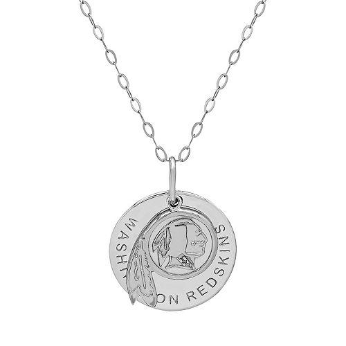 Washington Redskins Sterling Silver Team Logo Pendant Necklace
