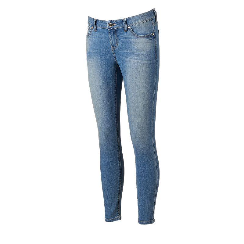 Petite Jennifer Lopez Whiskered Skinny Jeans, Women's, Size: 16P-SHORT, Turquoise/Blue (Turq/Aqua)