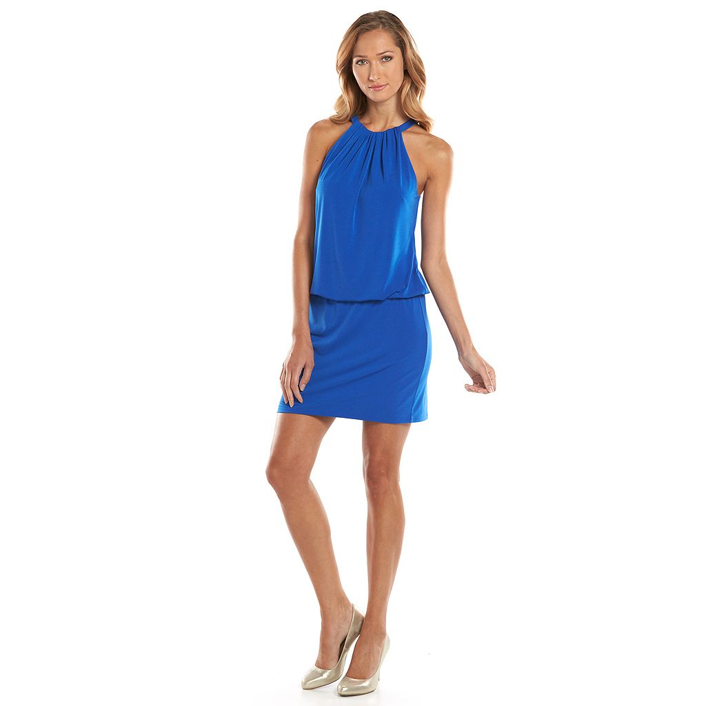 Kash & Jess Blouson Halter Dress - Women's