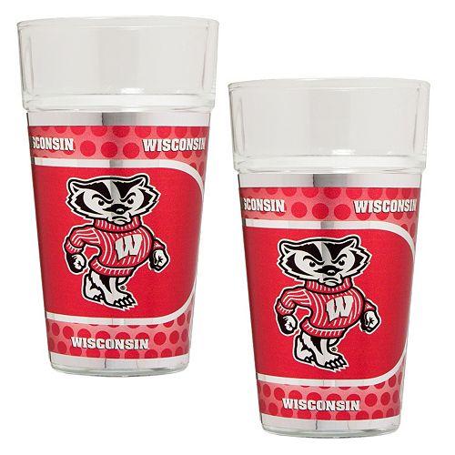 Wisconsin Badgers 2-Piece Pint Glass Set