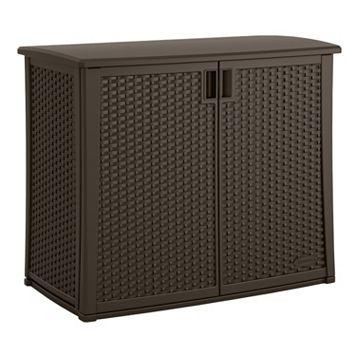Suncast Elements Outdoor Wicker Cabinet