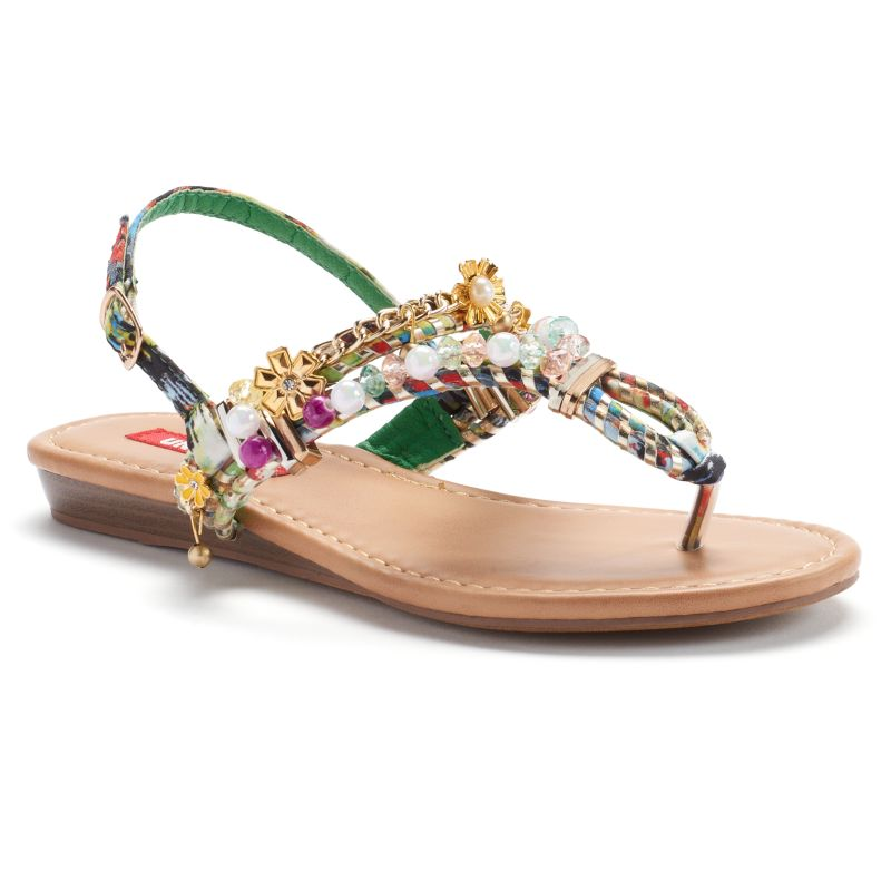 Unionbay Piper Women's Embellished Thong Sandals (Blue)
