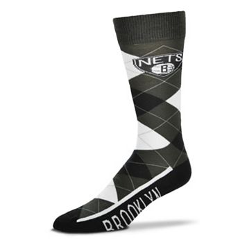 Men's For Bare Feet Brooklyn Nets Argyle Dress Socks
