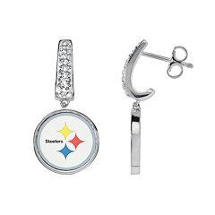 Pittsburgh Steelers Team Logo Drop Earrings
