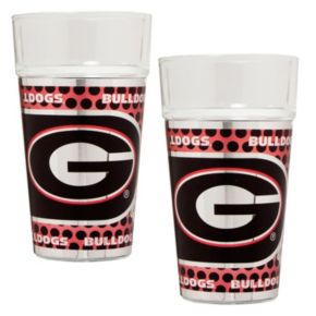 Georgia Bulldogs 2-Piece Pint Glass Set
