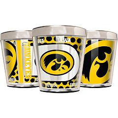 Iowa Hawkeyes 3-Piece Stainless Steel & Acrylic Shot Glass Set