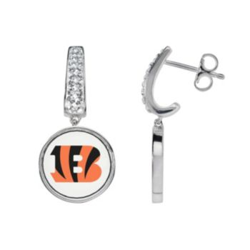 Cincinnati Bengals Team Logo Drop Earrings