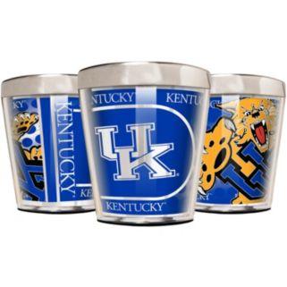 Kentucky Wildcats 3-Piece Stainless Steel & Acrylic Shot Glass Set