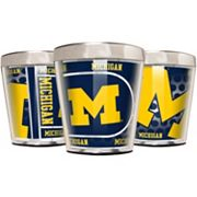 Michigan Wolverines 3 pc Stainless Steel & Acrylic Shot Glass Set