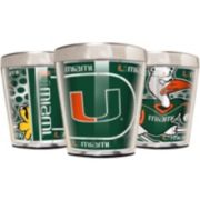 Miami Hurricanes 3-Piece Stainless Steel & Acrylic Shot Glass Set