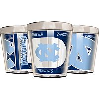North Carolina Tar Heels 3-Piece Stainless Steel & Acrylic Shot Glass Set