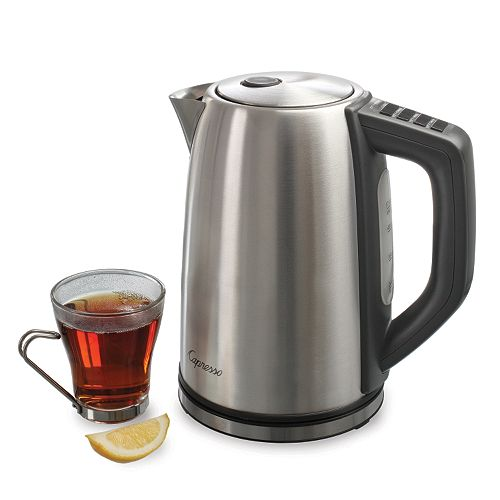 Capresso H2O Stainless Steel Plus 7-Cup Electric Water Kettle