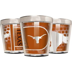 Texas Longhorns 3-Piece Stainless Steel & Acrylic Shot Glass Set