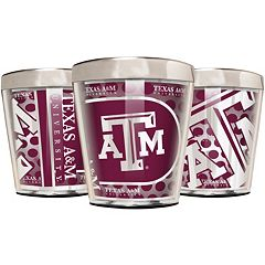 Texas A&M Aggies 3-Piece Stainless Steel & Acrylic Shot Glass Set