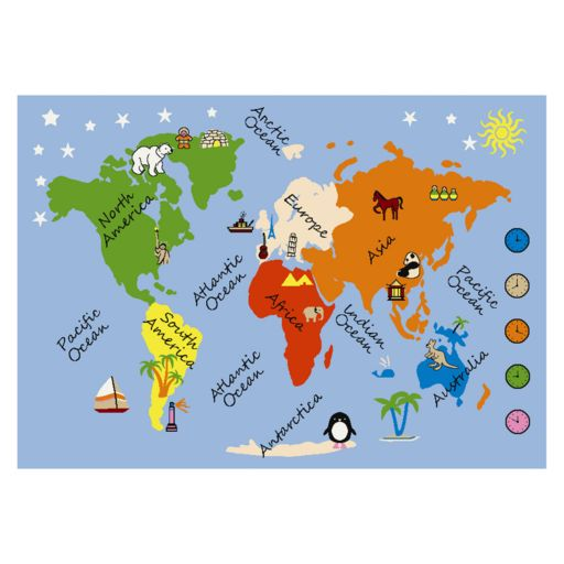 Concord Global Fun Time What A World Rug