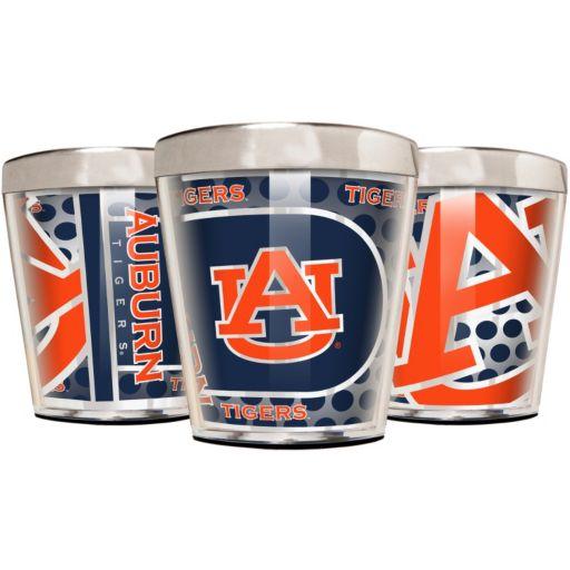 Auburn Tigers 3-Piece Stainless Steel & Acrylic Shot Glass Set