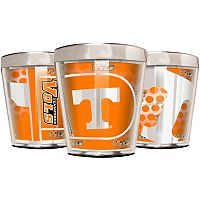 Tennessee Volunteers 3 pc Stainless Steel & Acrylic Shot Glass Set