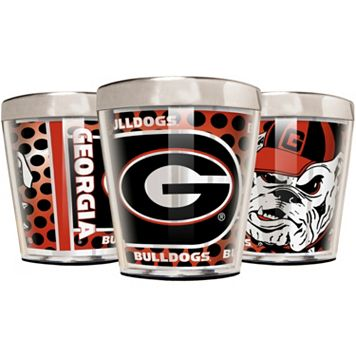 Georgia Bulldogs 3-Piece Stainless Steel & Acrylic Shot Glass Set
