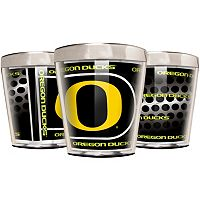 Oregon Ducks 3 pc Stainless Steel & Acrylic Shot Glass Set