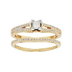 Diamond Engagement Ring Set in 10k Gold (1/2 Carat T.W.)