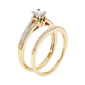 Diamond Engagement Ring Set in 10k Gold (1/2 Carat T.W.)