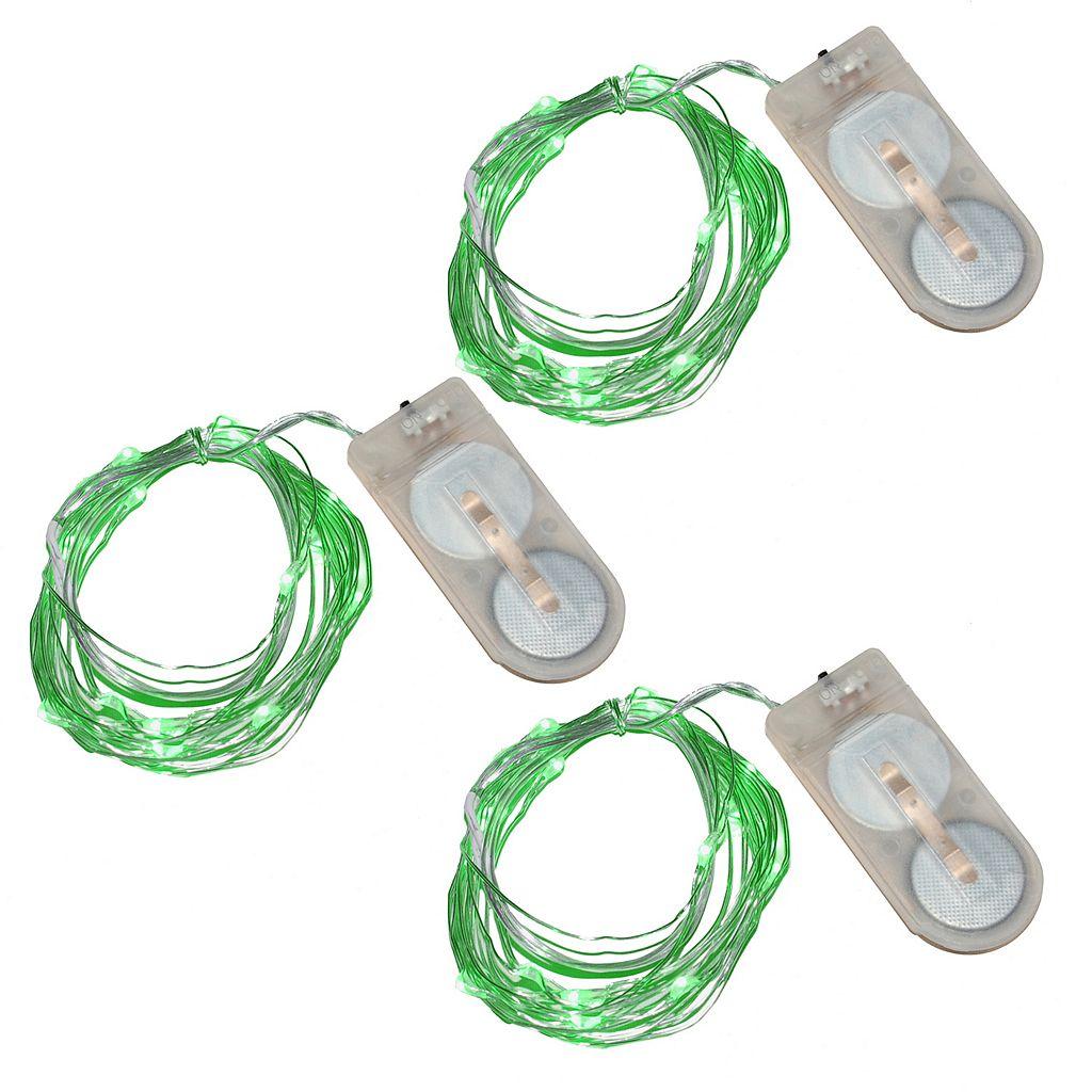 LumaBase Luminas 3-pk. Waterproof Battery Operated Mini LED String Lights