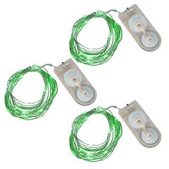 LumaBase Luminas 3-pk. Waterproof Battery Operated Mini LED String Lights