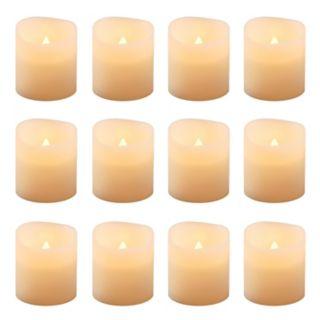LumaBase 12-piece LED Flameless Votive Candle Set