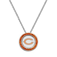 Chicago Bears Team Logo Crystal Pendant Necklace - Made with Swarovski Crystals