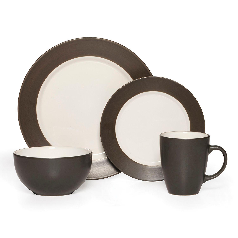 Dinnerware Set  sc 1 st  Kohlu0027s & Black Stoneware Dinnerware Sets Dinnerware u0026 Serveware Kitchen ...
